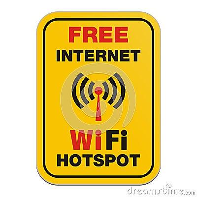 Free Free Internet Wifi Hotspot Sign Stock Photo - 33776270