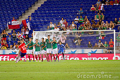 Free kick Editorial Image