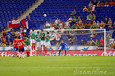 Free kick Editorial Stock Photo