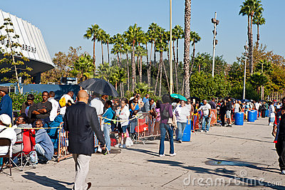 Free Medical Clinic In Los Angeles At 8:30 a.m. Editorial Photography