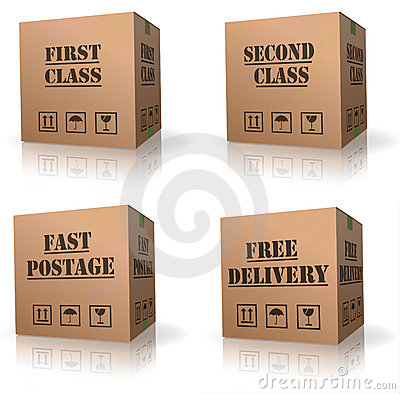 Free order shipping cardboard box delivery