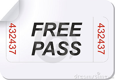 Ticket Free Pass Royalty Free Image Image 3827286 – Free Pass Template