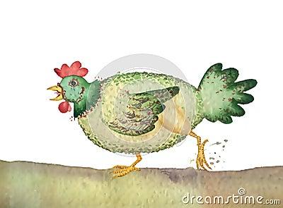 Free range poultry hen
