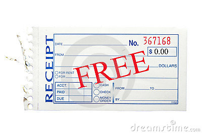 Free receipt