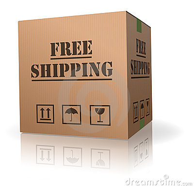 Free shipping cardboard box package delivery