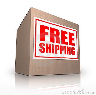Free Shipping Cardboard Box Ship No Cost
