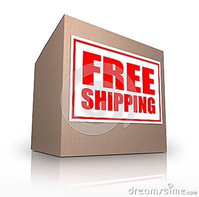 Free Shipping Cardboard Box Ship No Cost