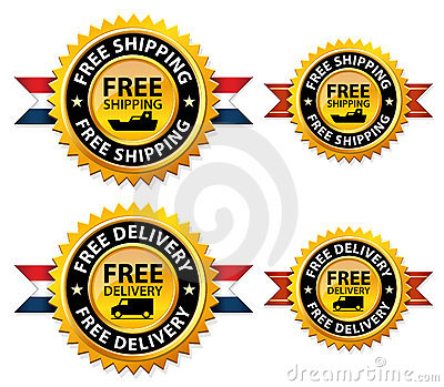 Free shipping or delivery medals, sign, icon