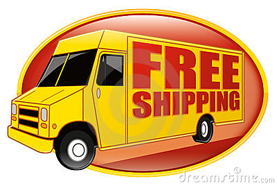 Free Shipping Delivery Truck Yellow