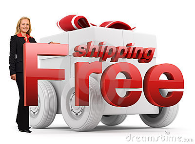 Free shipping icon - Business woman - red