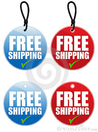 Free Shipping Tag EPS