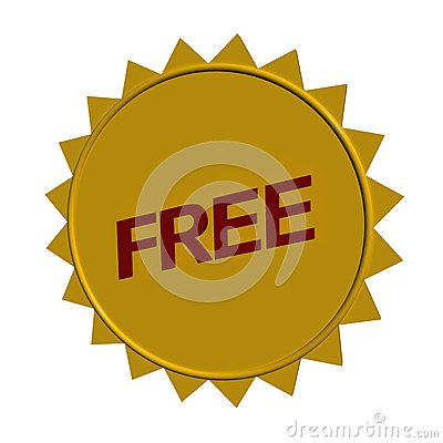 Free sign or sticker