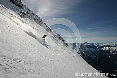 Free-skier in powder