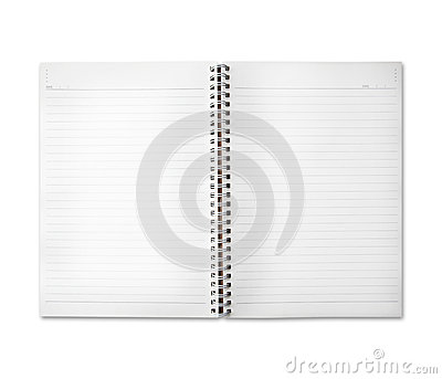 Free space of diary note paper