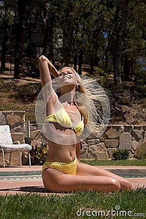 Free spirited sun bather