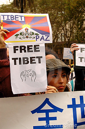 Free Tibet Editorial Stock Photo