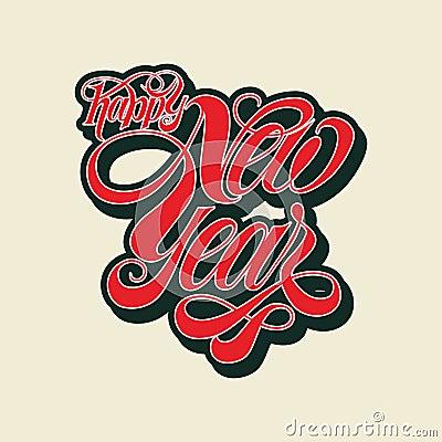 Free Vector Happy New Year Typography Stock Photo