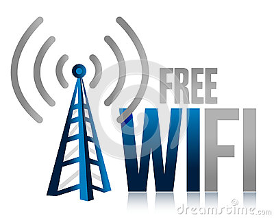 Free wifi tower illustration design