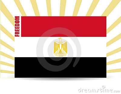 Freedom egypt flag