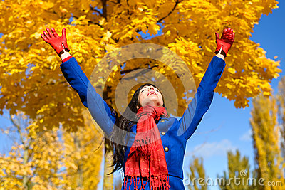 Freedom and happiness in autumn