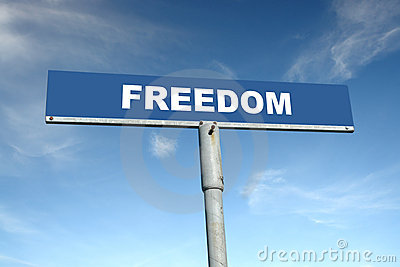 Freedom signpost