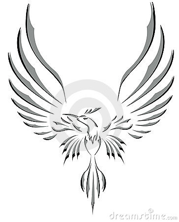 Freedom symbol tattoo flying bird with big wings royalty for Freedom tribal tattoos