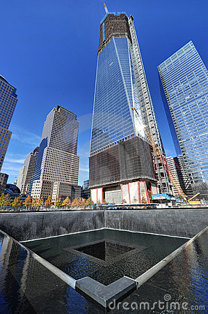 Freedom Tower and National September 11 Memorial Editorial Photography