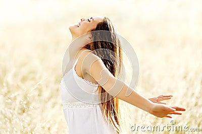 Freedom vitality carefree lifestyle woman