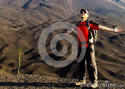 Freedom on volcano Pacaya