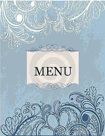 Freehand floral pattern menu