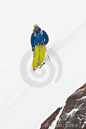 Freeride in Caucasus mountains