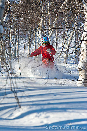 Free Freeride In Siberia Stock Photography - 12907222