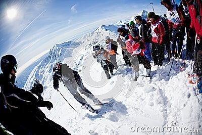 Freeride Ski Race Editorial Stock Image