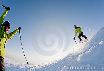 Freeride Skier Stock Images - Image: 12431074