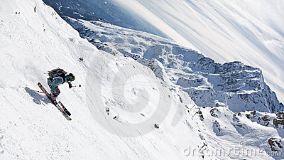 Freeride Skier Royalty Free Stock Photo - Image: 13189605