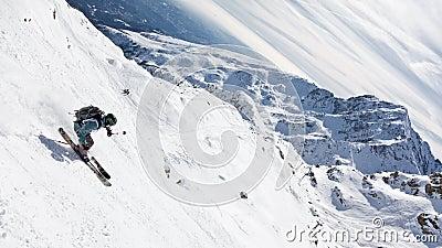 Freeride skier Editorial Image