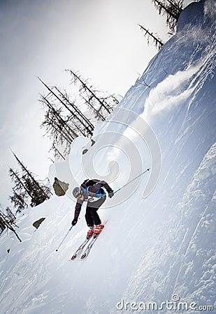 Freeride skier Editorial Photo