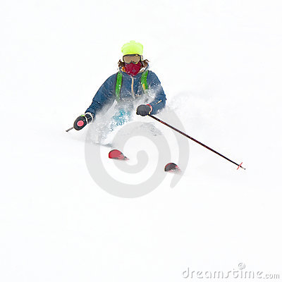 Freerider in a snow powder
