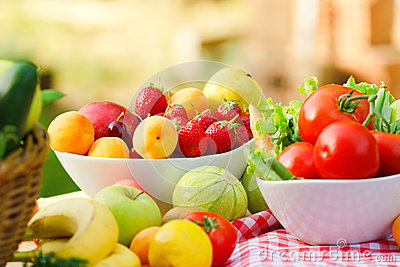 Freesh organic fruits and vegetables