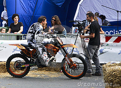 Freestyle Motocross 2009. Give me five Editorial Photography