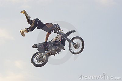 Freestyle motorcycle stunt Editorial Image