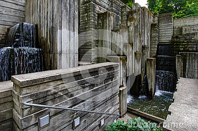 Freeway Park in Seattle Editorial Photography