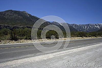 Freeway with the rocks on horizon