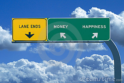 Freeway sign Money/Happiness