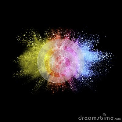 Free Freeze Motion Of Color Dust  Particles Splash. Royalty Free Stock Photo - 111120485