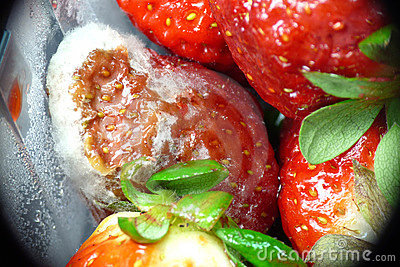 Freezer burned strawberries