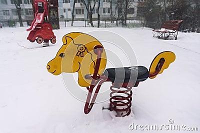 Freezing playground
