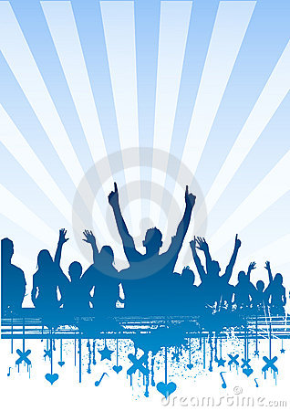 Freie Himmel-Party-Masse
