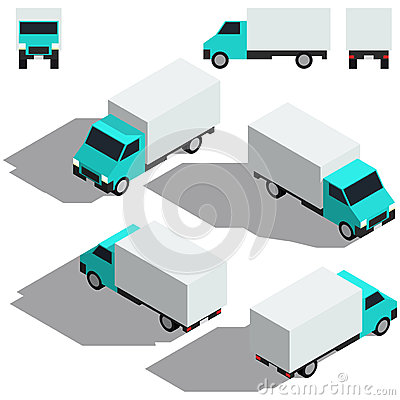 Free Freight Car Isometry. Low Detailing Isometric Stock Photos - 91356763