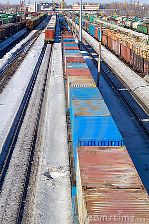 Free Freight Cars Stock Photo - 18873180